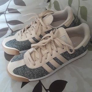 ADIDAS gray and beige sneakers